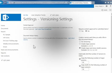 Require Content Approval for Submitted Items (SharePoint 2013)