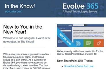 Evolve 365 eNewsletter